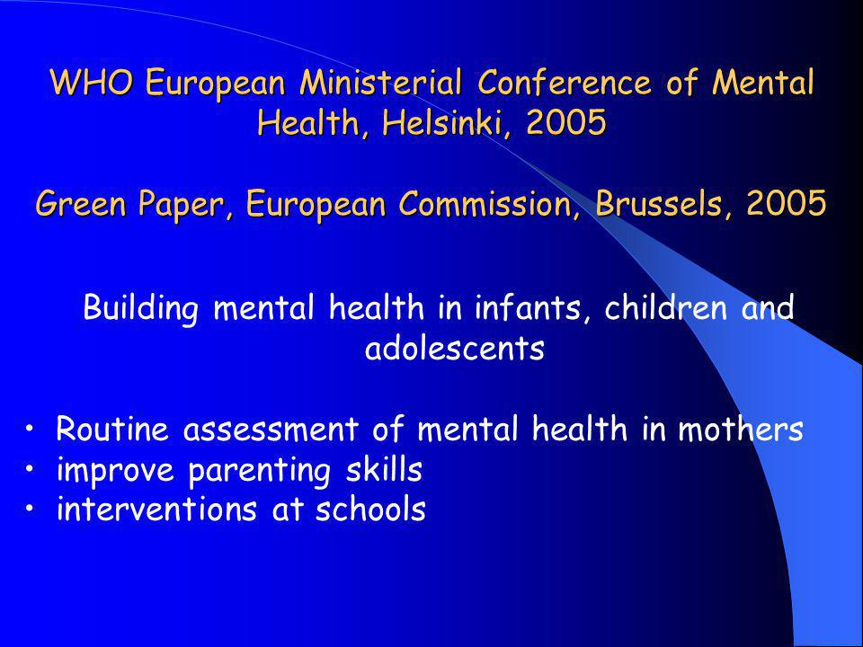 Building mental health in infants, children and adolescents