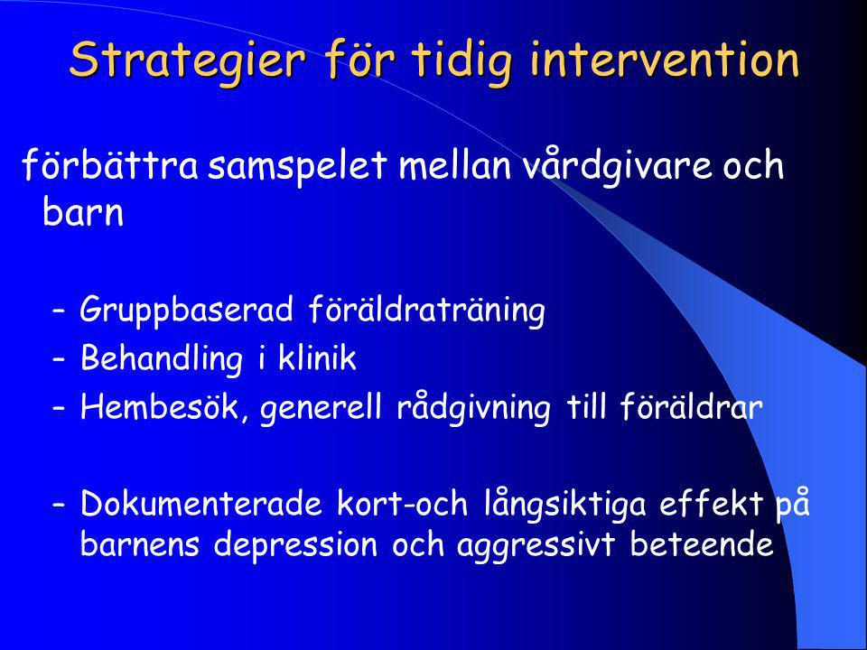 Strategier för tidig intervention