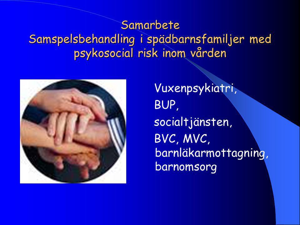 Samarbete Samspelsbehandling i spädbarnsfamiljer med psykosocial risk inom vården