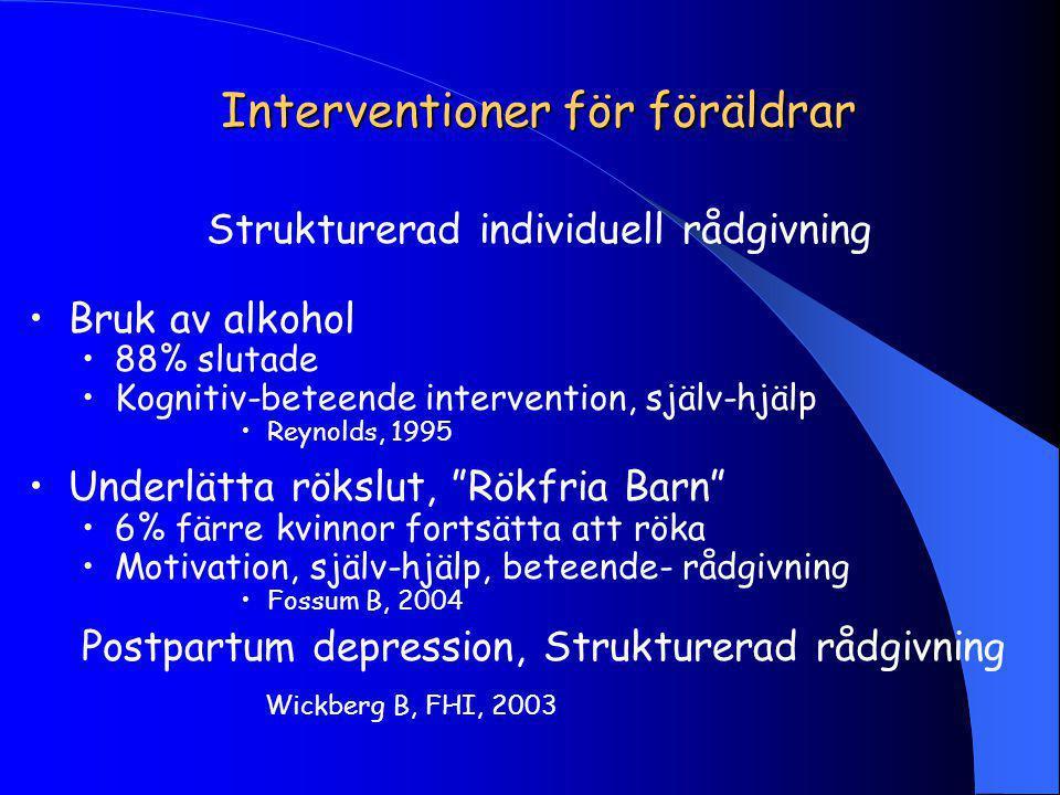 Interventioner för föräldrar