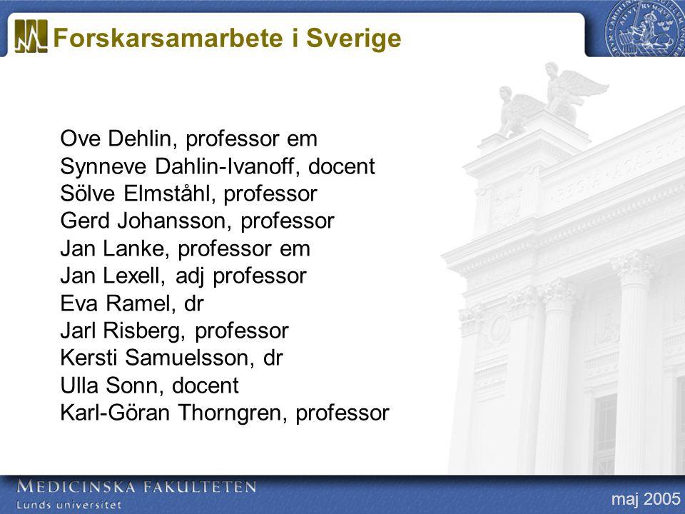 Forskarsamarbete i Sverige