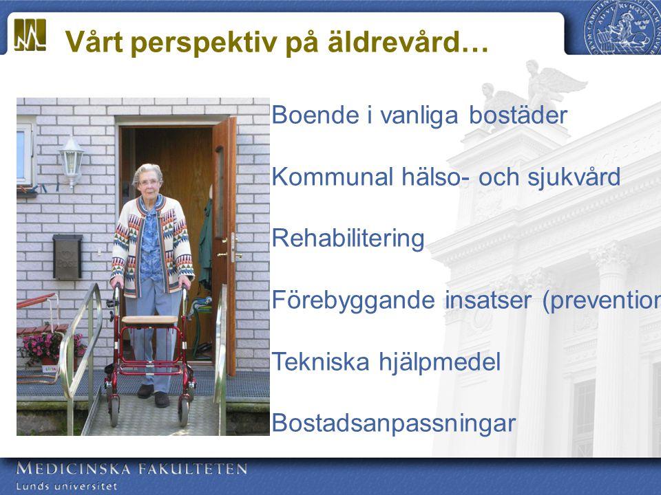 Vårt perspektiv på äldrevård…