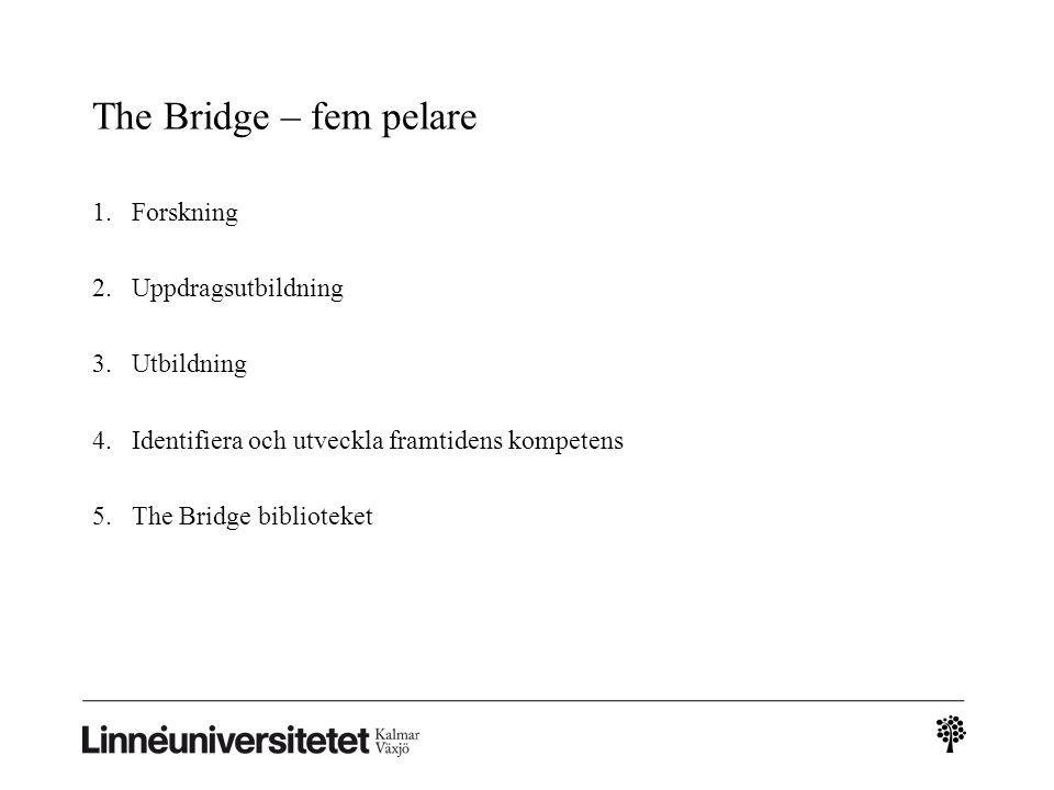 The Bridge – fem pelare Forskning Uppdragsutbildning Utbildning