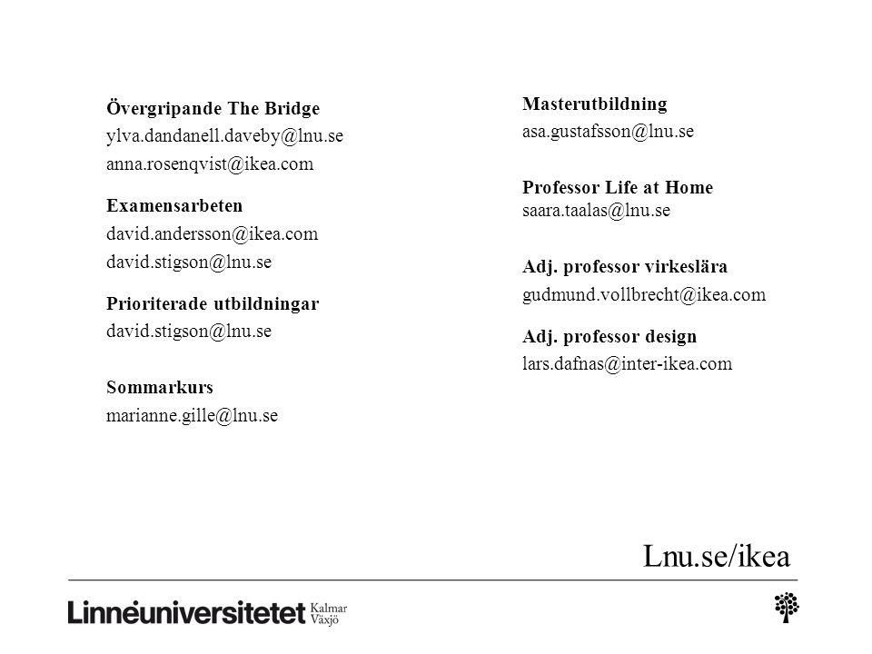 Lnu.se/ikea Masterutbildning