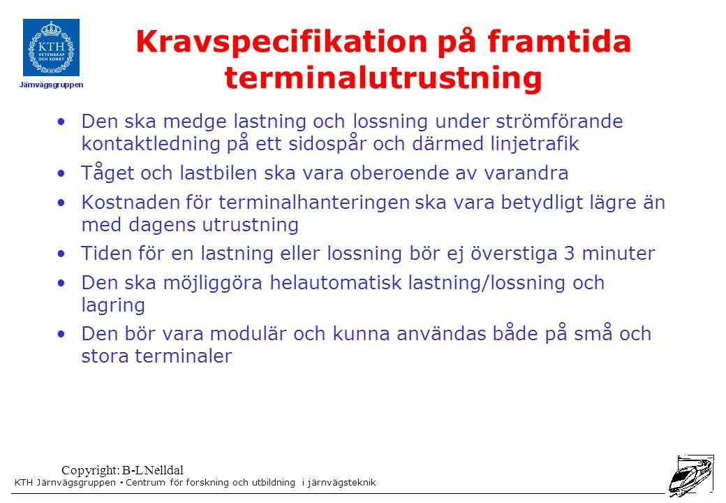 Kravspecifikation på framtida terminalutrustning
