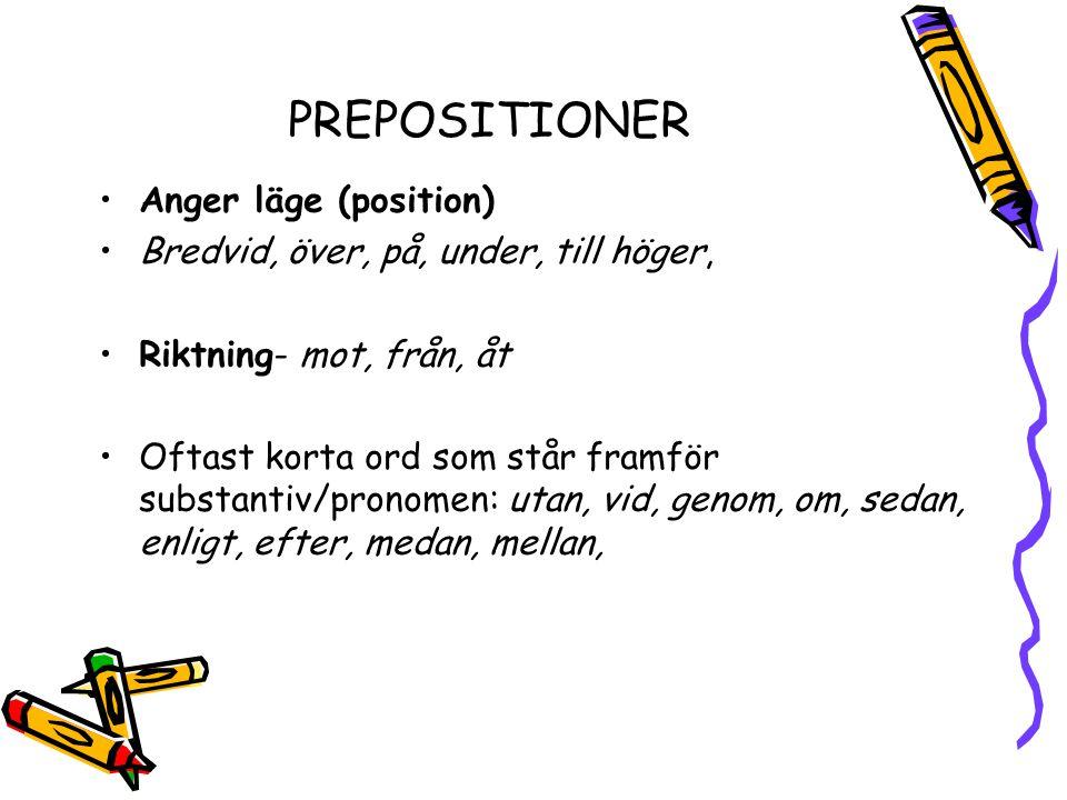 PREPOSITIONER Anger läge (position)