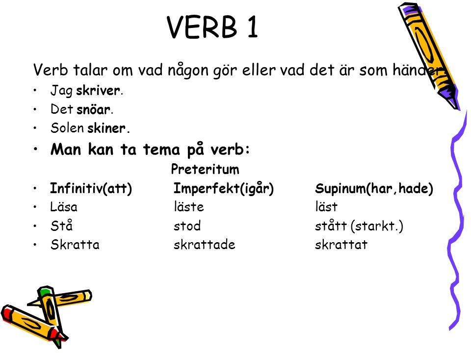 Verb svenska