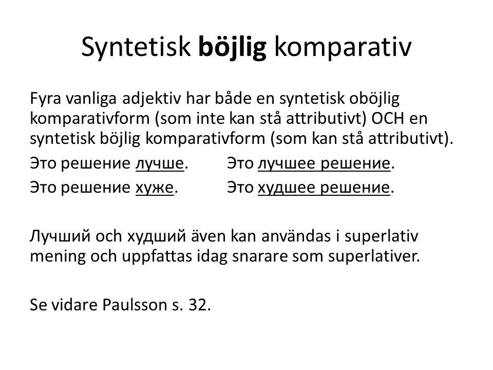 Syntetisk böjlig komparativ