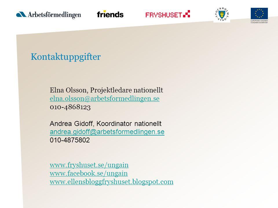 Kontaktuppgifter Elna Olsson, Projektledare nationellt