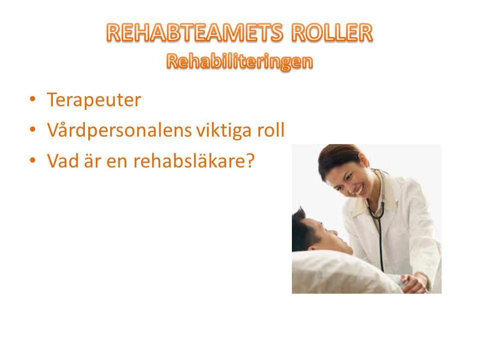 REHABTEAMETS ROLLER Rehabiliteringen