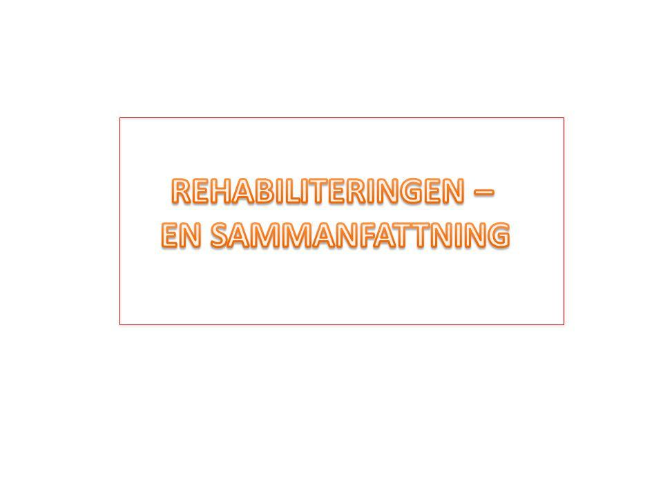 REHABILITERINGEN – EN SAMMANFATTNING