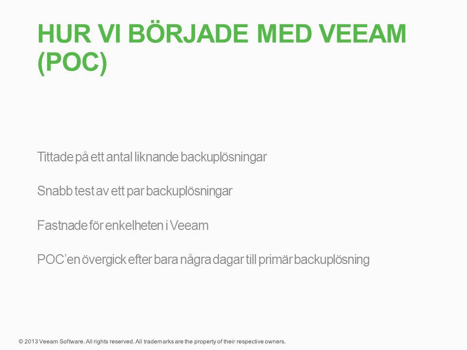 Hur vi började med Veeam (POC)