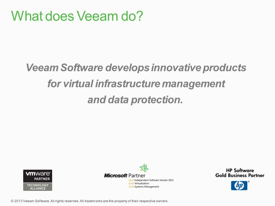 What does Veeam do.