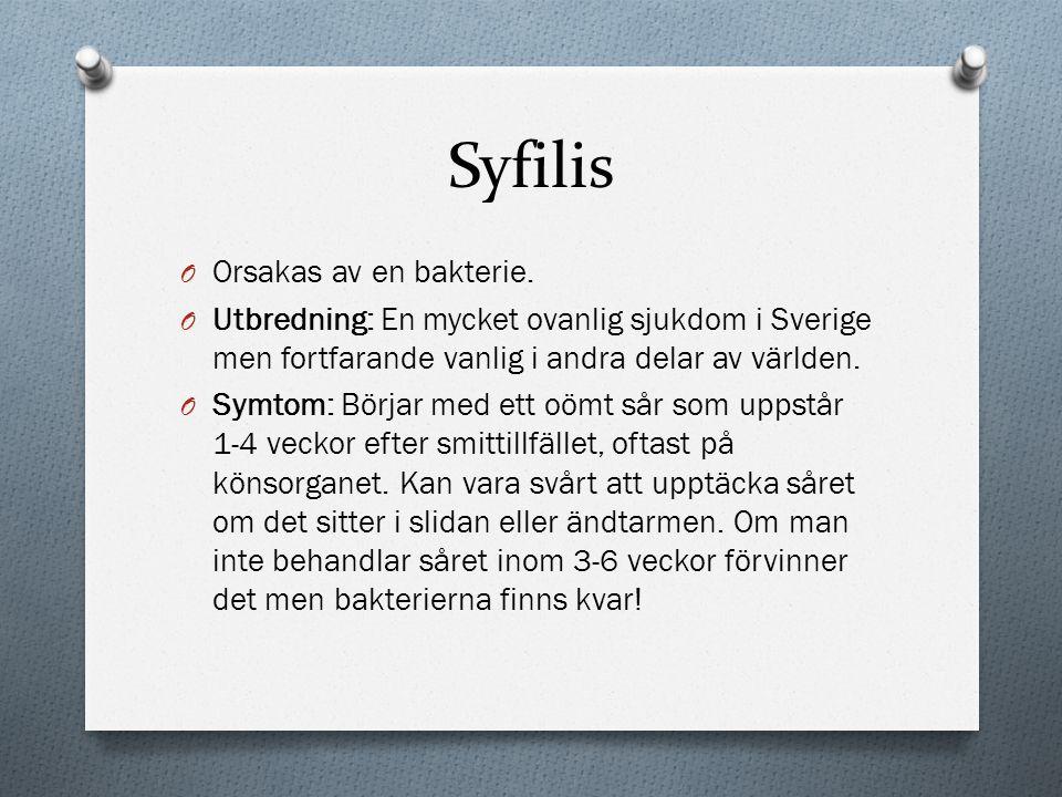 Syfilis Orsakas av en bakterie.
