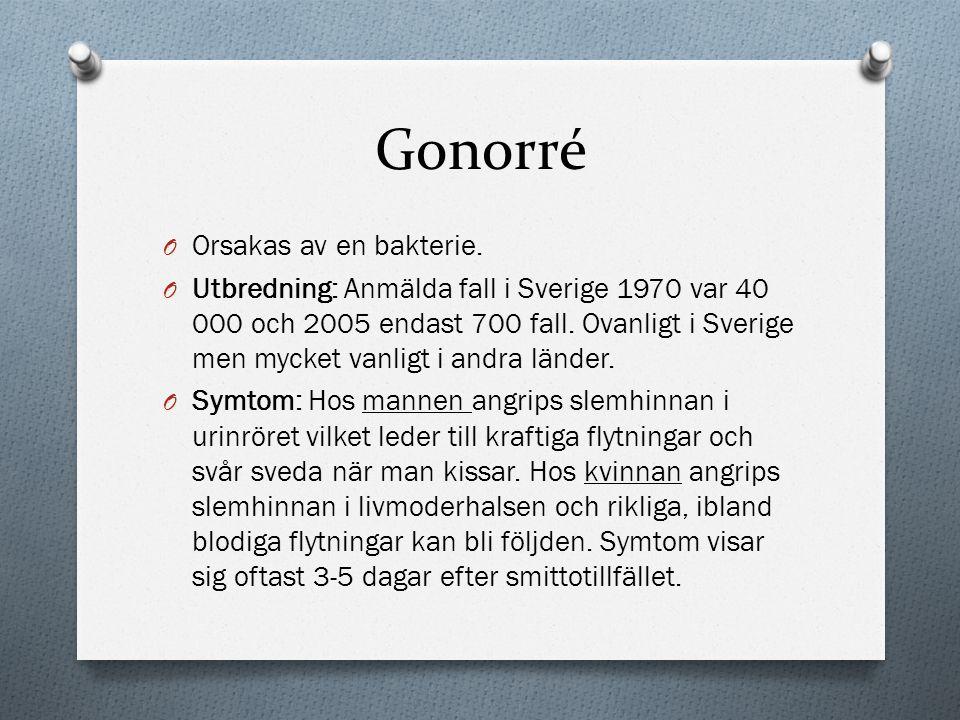 Gonorré Orsakas av en bakterie.