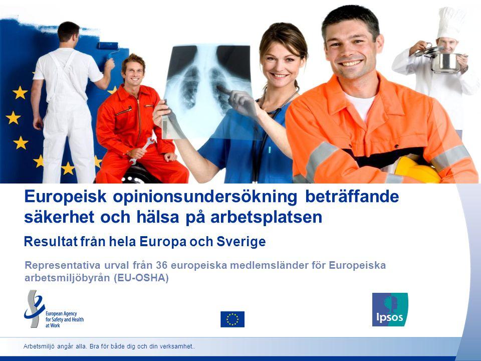Europeisk opinionsundersökning beträffande säkerhet och hälsa på arbetsplatsen