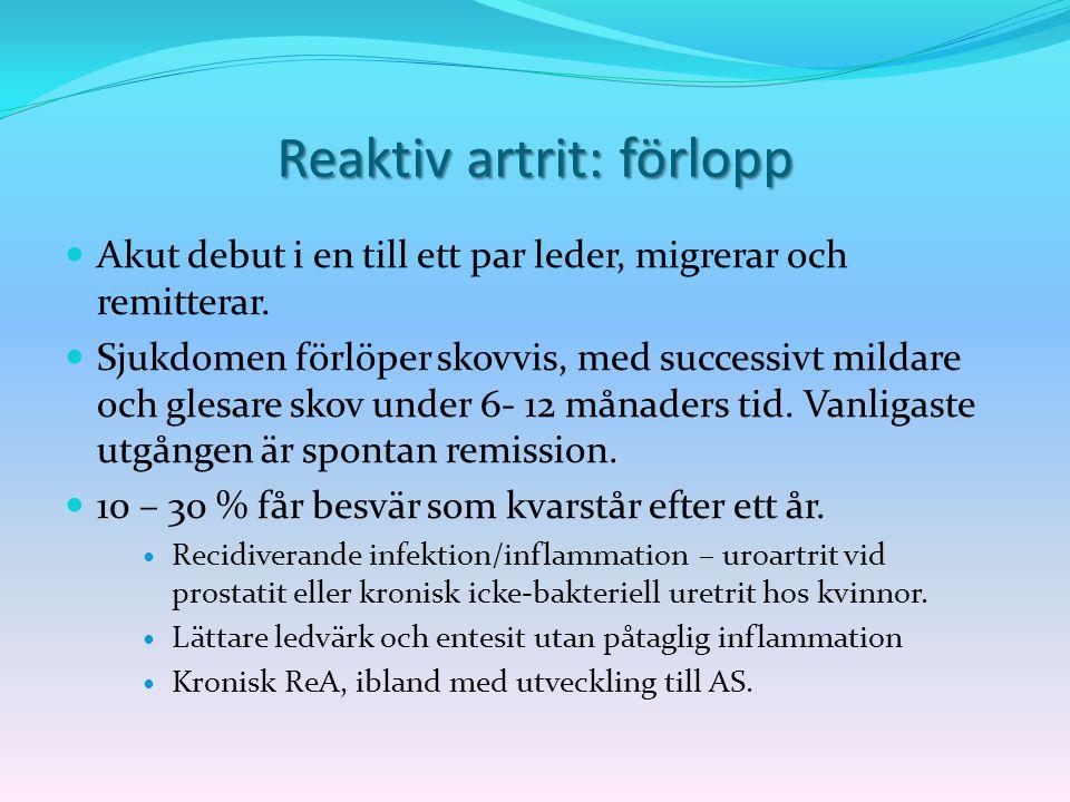 Reaktiv artrit: förlopp