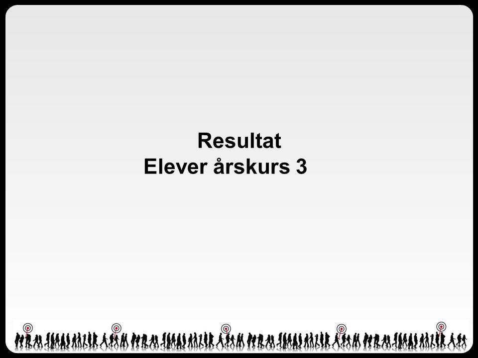 Resultat Elever årskurs 3