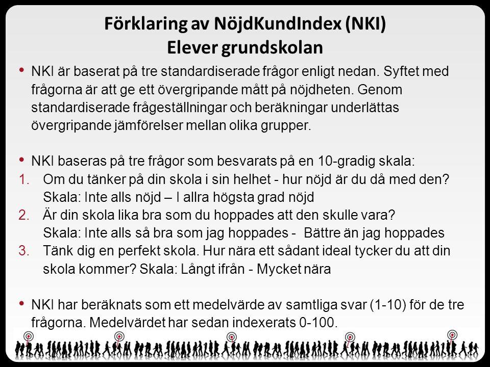 Förklaring av NöjdKundIndex (NKI) Elever grundskolan