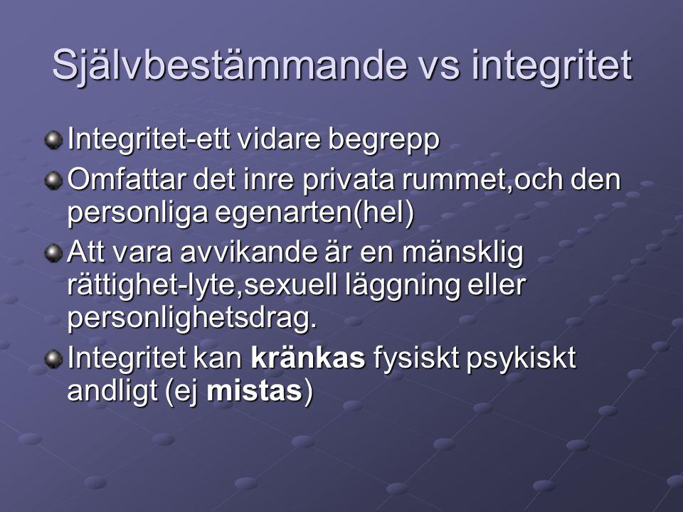 Självbestämmande vs integritet