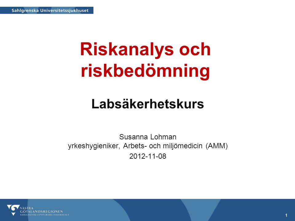 Riskanalys och riskbedömning