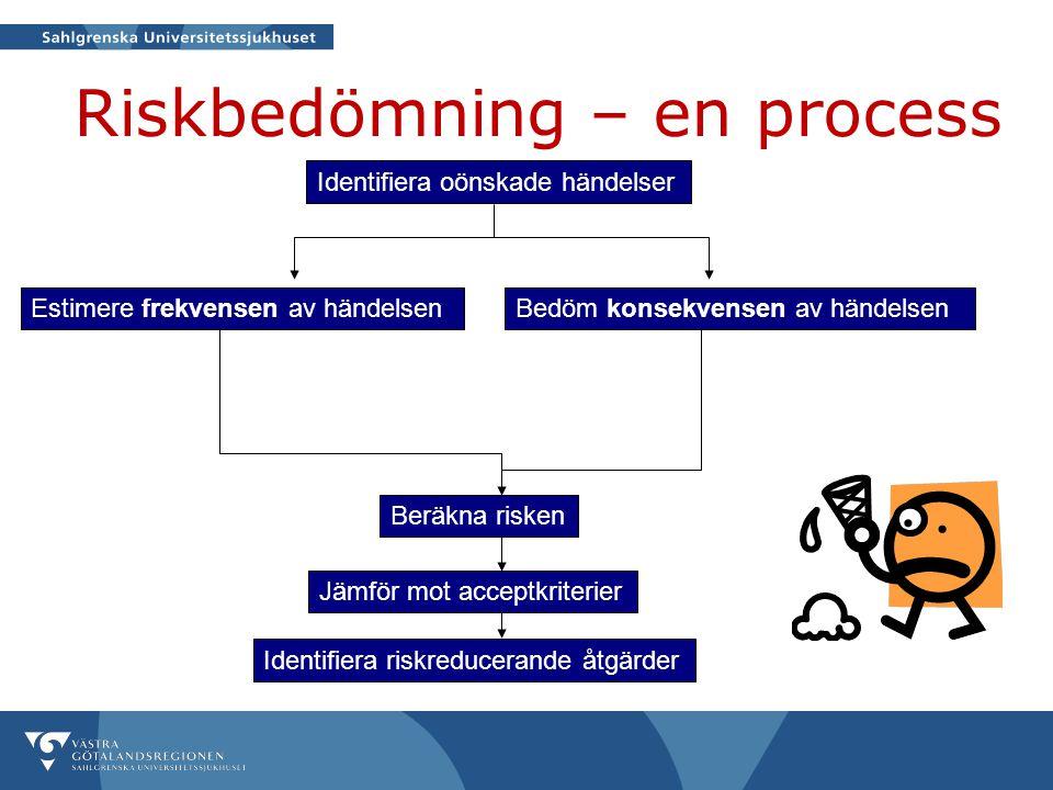 Riskbedömning – en process