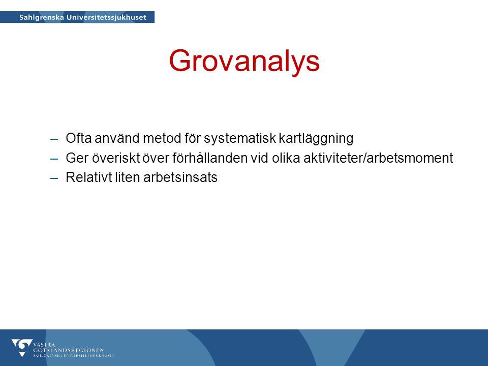 Grovanalys Ofta använd metod för systematisk kartläggning