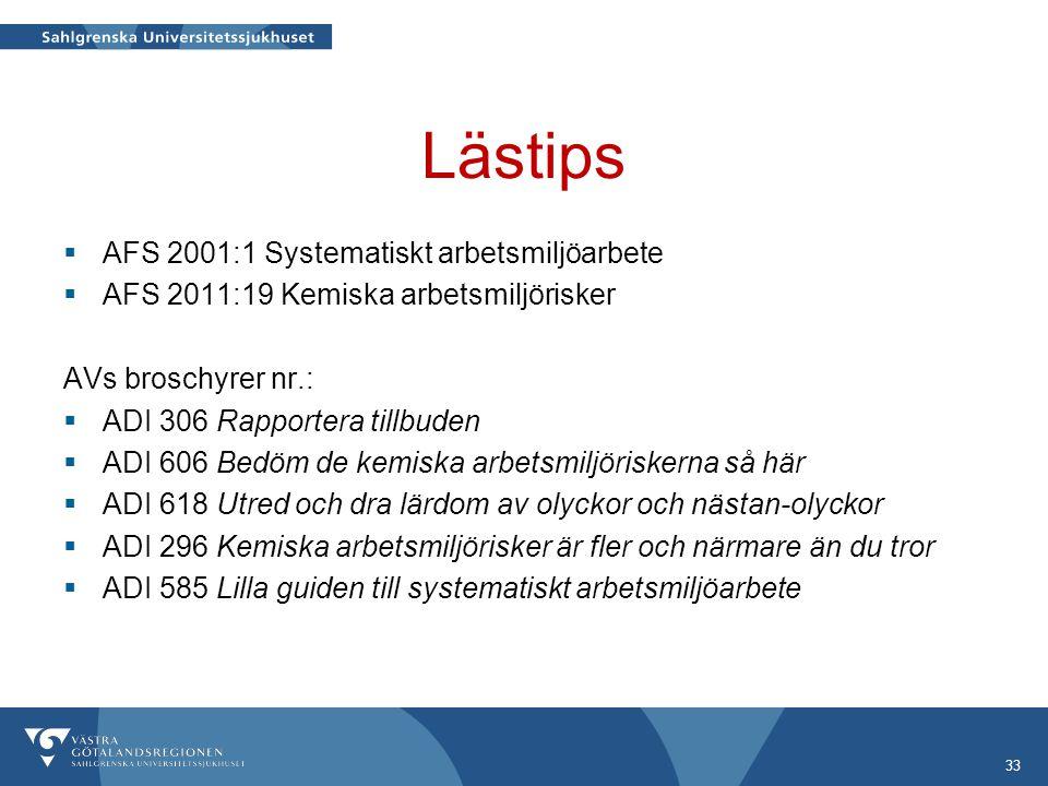 Lästips AFS 2001:1 Systematiskt arbetsmiljöarbete