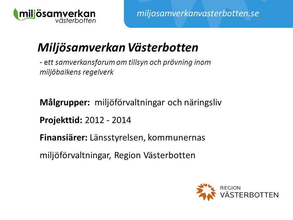 Miljösamverkan Västerbotten