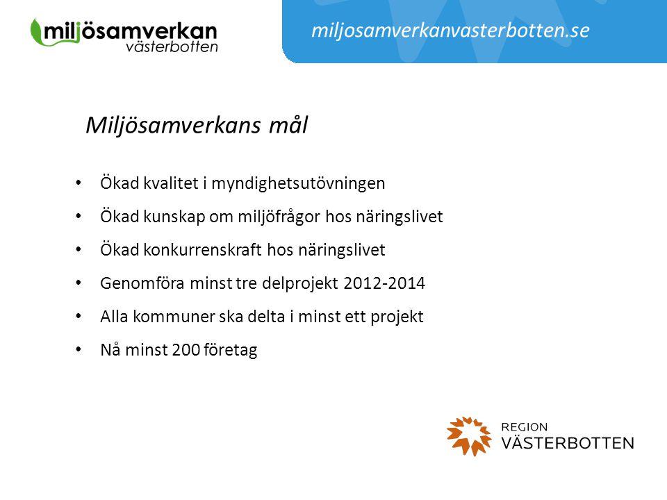 Miljösamverkans mål miljosamverkanvasterbotten.se