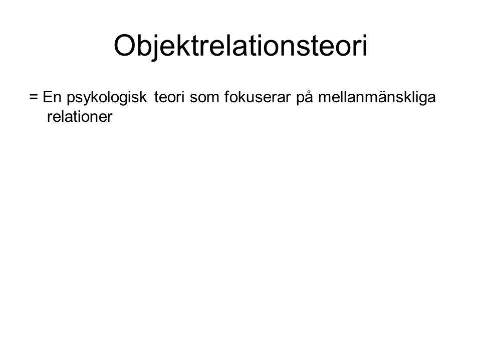 Objektrelationsteori