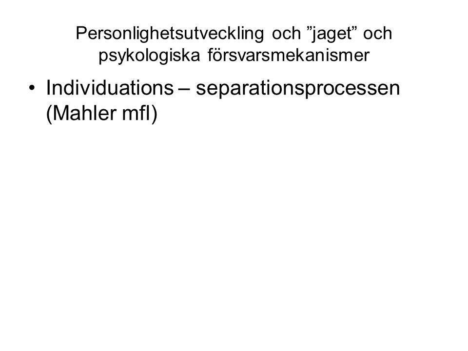 Individuations – separationsprocessen (Mahler mfl)