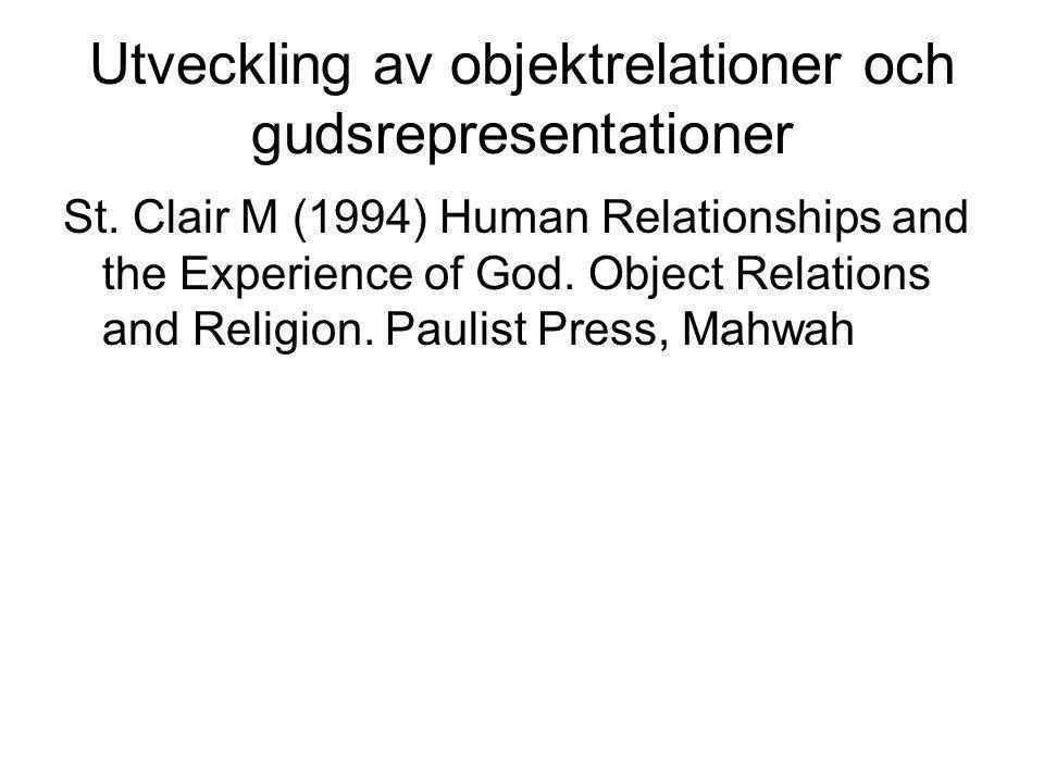 Utveckling av objektrelationer och gudsrepresentationer
