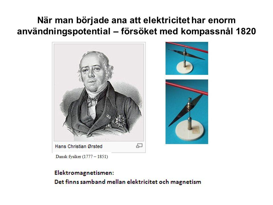 När man började ana att elektricitet har enorm användningspotential – försöket med kompassnål 1820