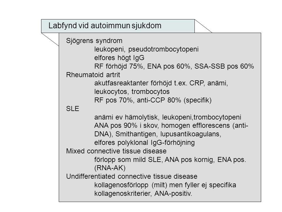 Labfynd vid autoimmun sjukdom