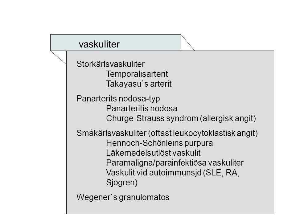 vaskuliter Storkärlsvaskuliter Temporalisarterit Takayasu`s arterit