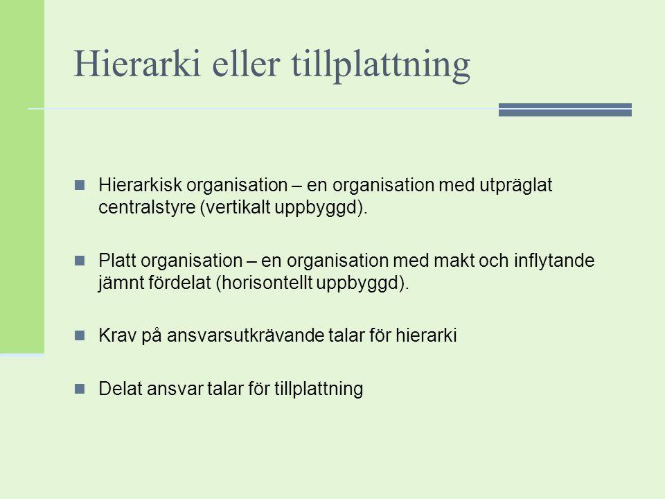 Hierarki eller tillplattning
