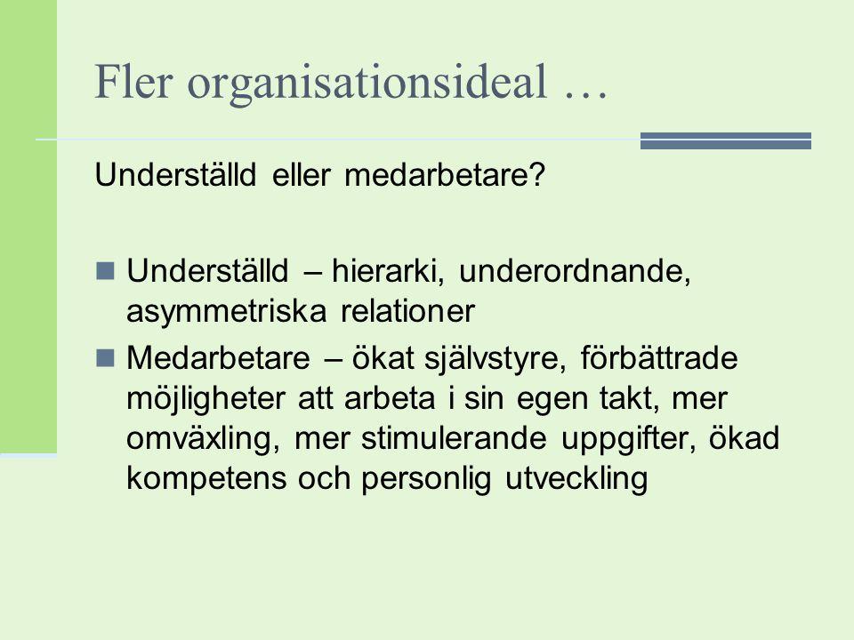 Fler organisationsideal …