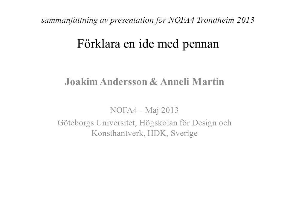 Joakim Andersson & Anneli Martin