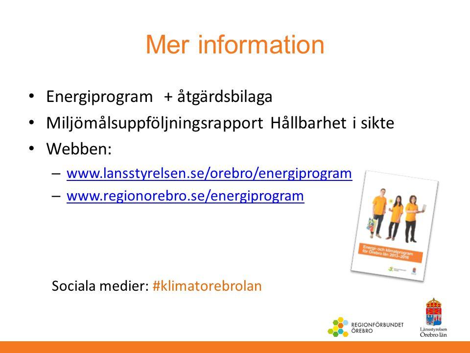 Mer information Energiprogram + åtgärdsbilaga