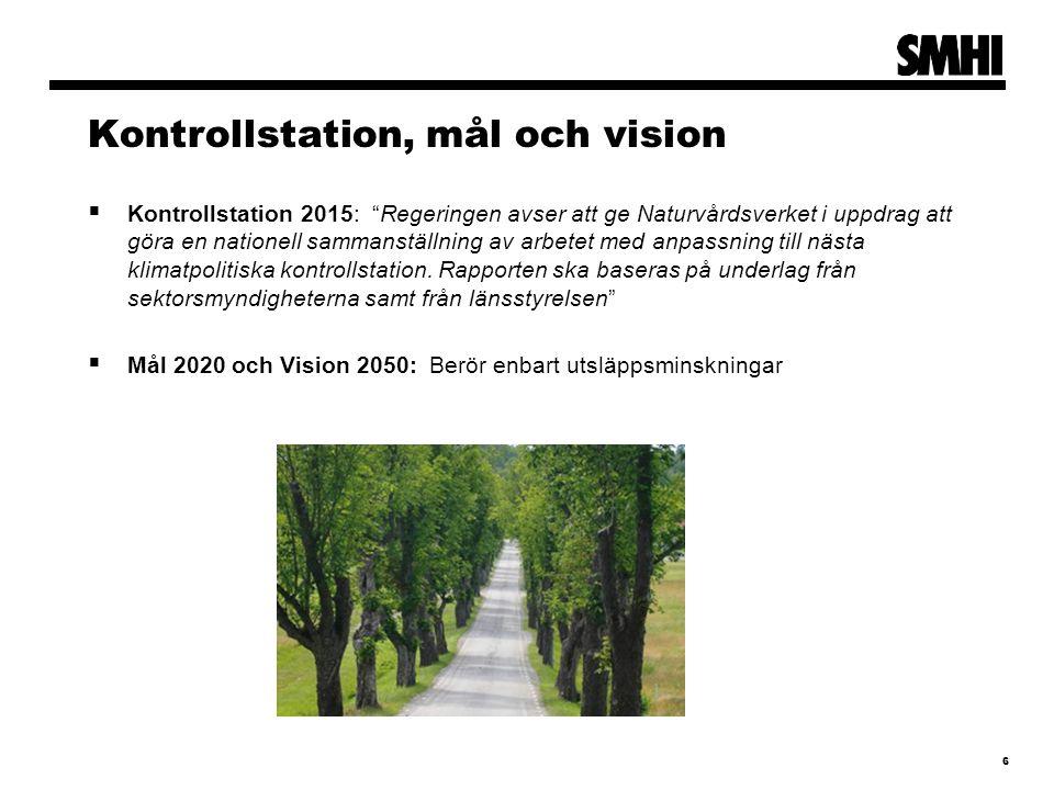 Kontrollstation, mål och vision