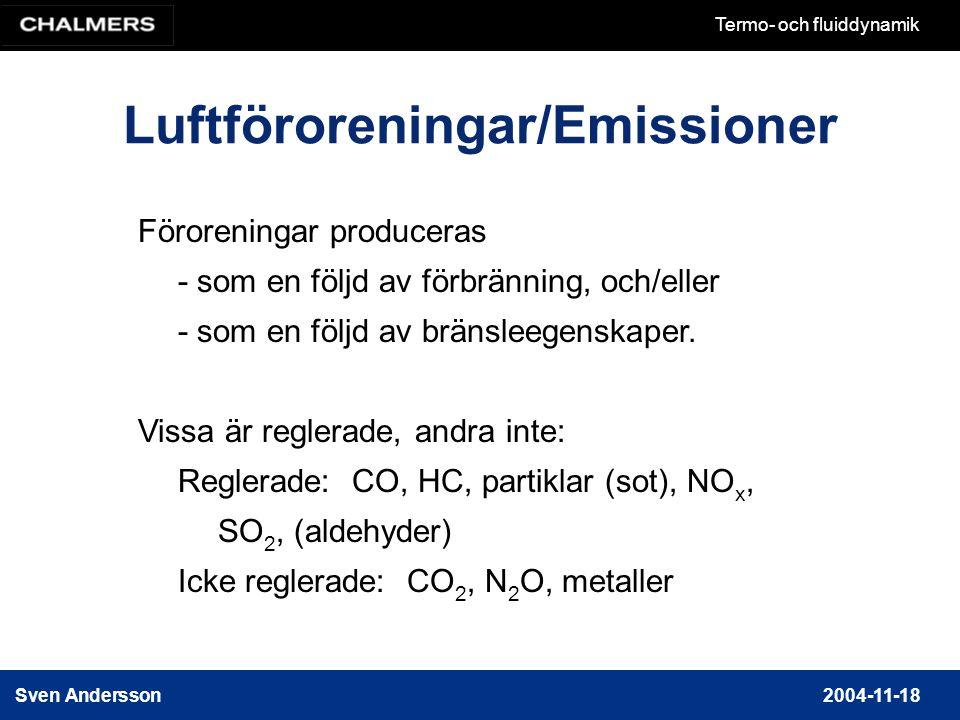 Luftföroreningar/Emissioner