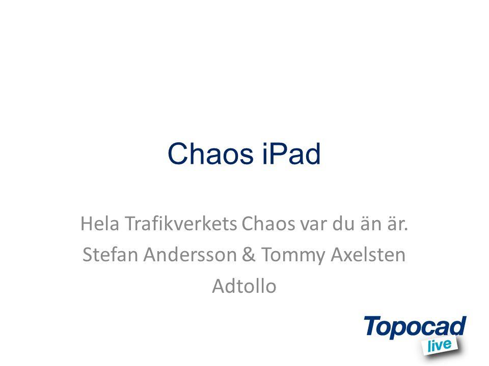 Chaos iPad Hela Trafikverkets Chaos var du än är.