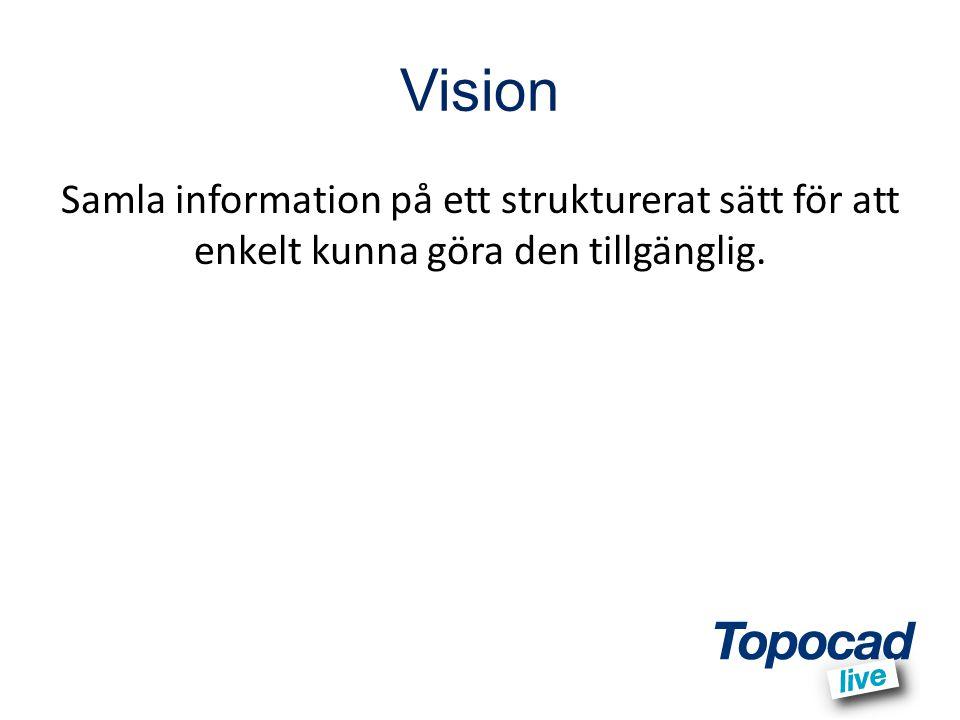 Vision Samla information på ett strukturerat sätt för att enkelt kunna göra den tillgänglig.
