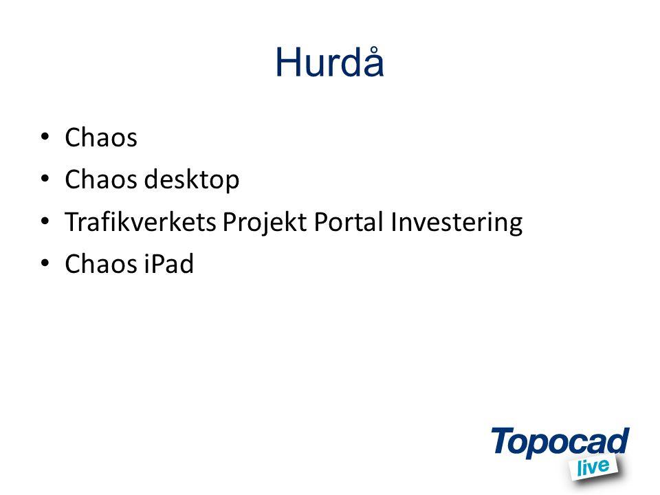Hurdå Chaos Chaos desktop Trafikverkets Projekt Portal Investering