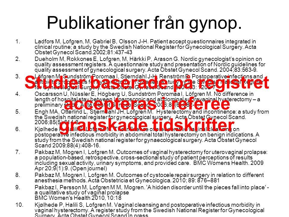 Publikationer från gynop.