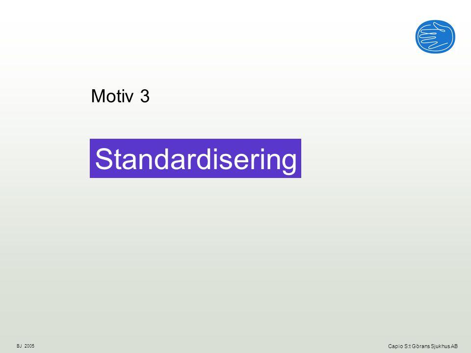 Motiv 3 Standardisering