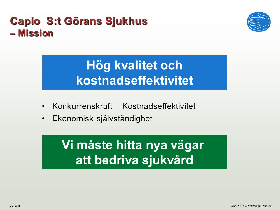 Capio S:t Görans Sjukhus – Mission