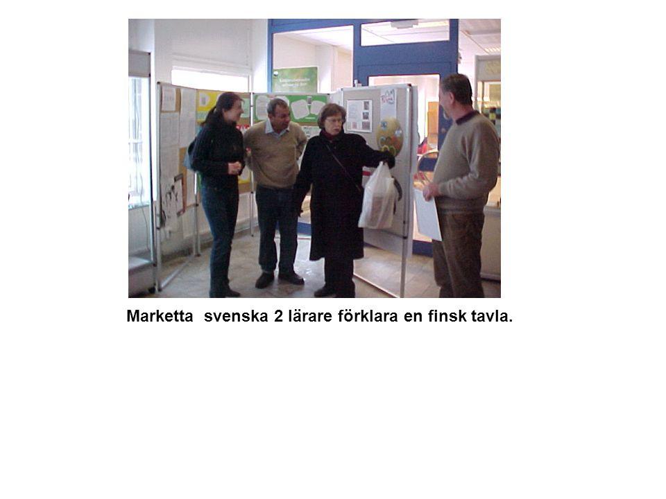 Marketta svenska 2 lärare förklara en finsk tavla.