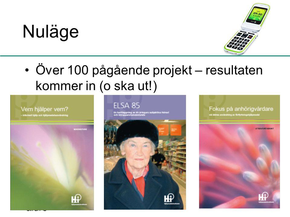 Nuläge Över 100 pågående projekt – resultaten kommer in (o ska ut!) 10